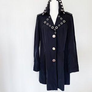 NWT INC International Concepts Black Duster Coat